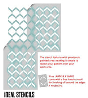 Ribbon Lattice Nursery Stencil