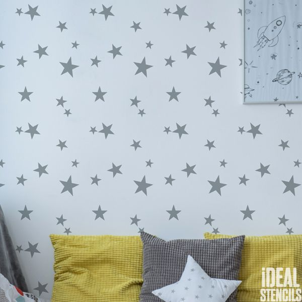 Scattered Stars Pattern Stencil