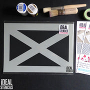 Scottish Flag Stencil