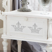 Shabby Chic Crown Stencil