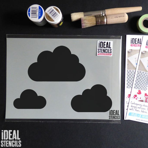 Sky Cloud Nursery Decor Stencil