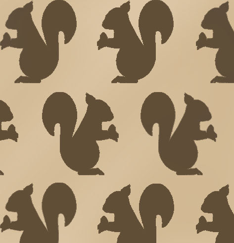 Squirrel Silhouette Decor Craft Stencil