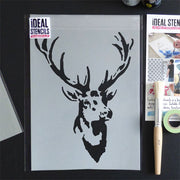 Stags Head Vintage Stencil