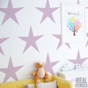 Star nursery decor stencil