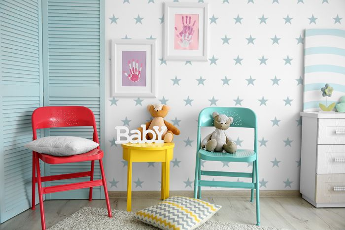 Star nursery pattern stencil