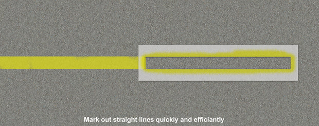 Straight line car parking Stencil