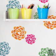 Swirl Rose Wall Stencil