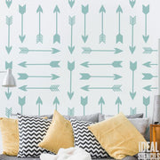 Tribal Arrows Pattern Stencil