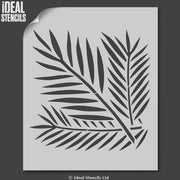 Tropical Ferns Pattern Stencil