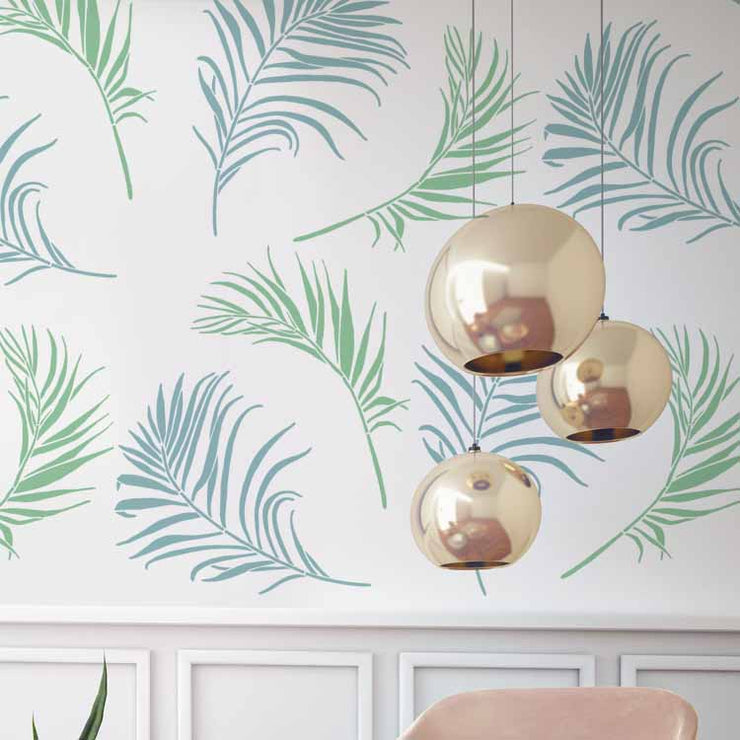 Tropical ferns Stencil Set