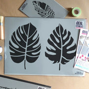 Tropical Palm Leaves Stencil