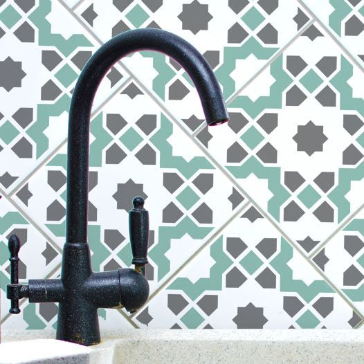 Tunis Tile & Floor Stencil