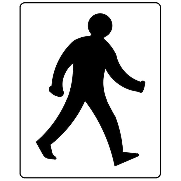 Walking man floor marking stencil
