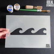Wave / Sea pattern stencil