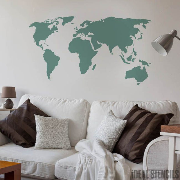 World Map Stencil