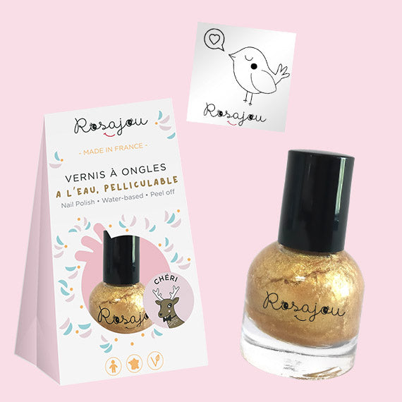 NAIL COLOR + sticker  - GOLD ROSAJOU - HOWTOKiSSAFROG