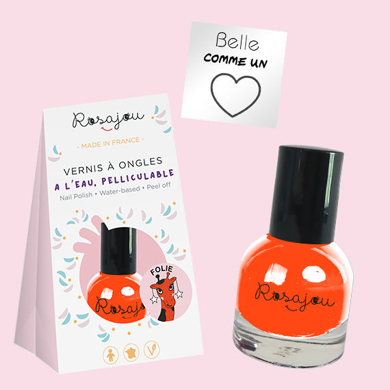 NAIL COLOR + sticker  - ORANGE  ROSAJOU - HOWTOKiSSAFROG