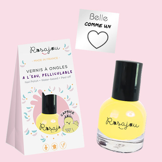 NAIL COLOR + sticker  - YELLOW ROSAJOU - HOWTOKiSSAFROG