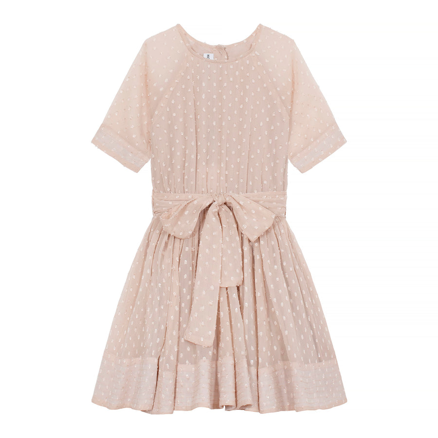 SIONA dress - beige dot - HOWTOKiSSAFROG