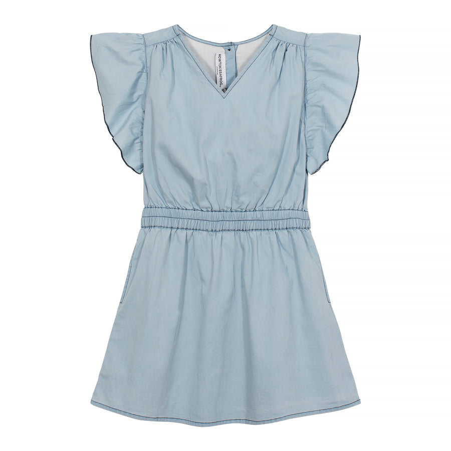 TICA dress - denim blue - HOWTOKiSSAFROG