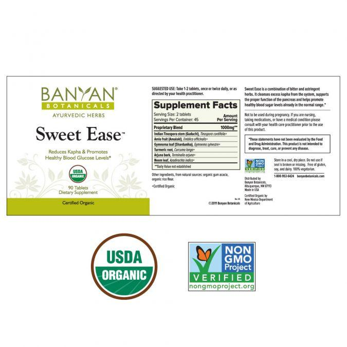 Banyan Botanicals Sweet Ease – 90 Tablets