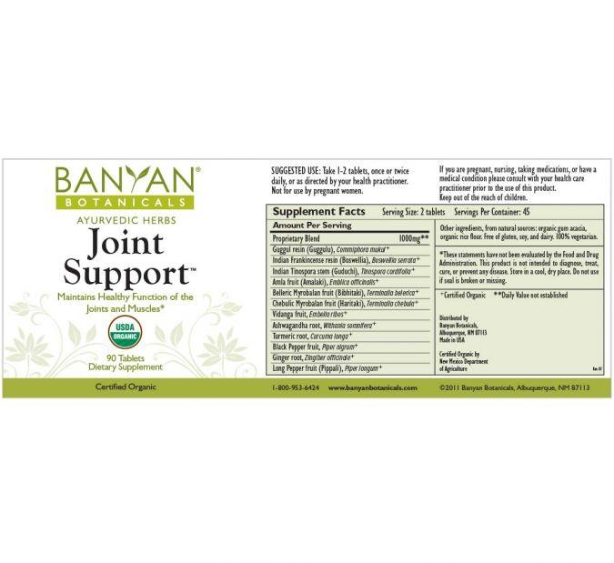 Banyan Botanicals Joint Support – 90 Tablets