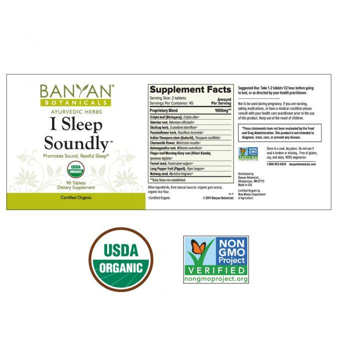Banyan Botanicals I Sleep Soundly – 90 Tablets