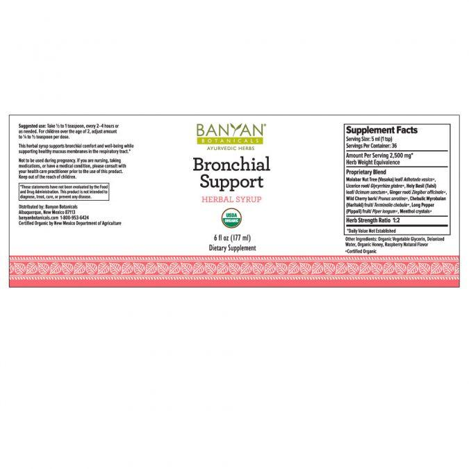 Banyan Botanicals Bronchial Support Herbal Syrup – 6 fl oz.