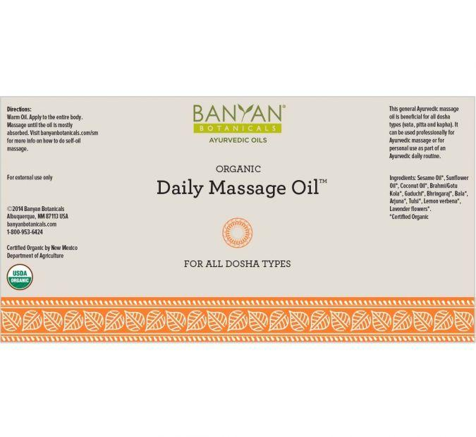 Banyan Botanicals Daily Massage Oil – 4 fl oz.