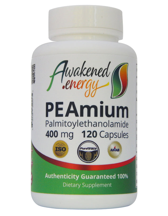 PEAmium (PEA) 400mg - 120 Capsules by Awakened.Energy