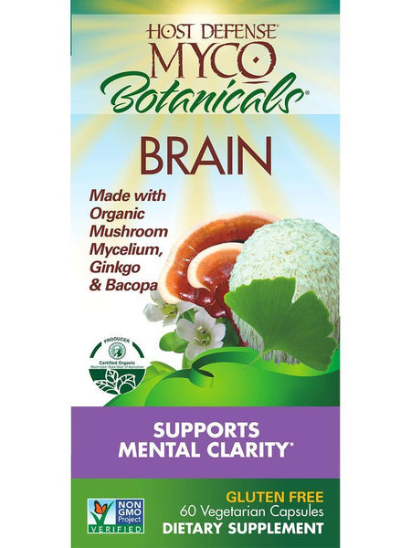 Host Defense Mushrooms MycoBotanicals Brain  60 Vegetarian Capsules