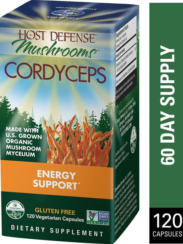 Host Defense Mushrooms Cordyceps  120 Vegetarian Capsules
