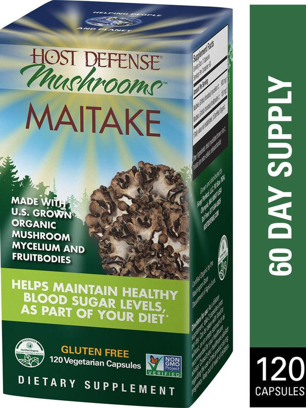 Host Defense Mushrooms Maitake  120 Vegetarian Capsules