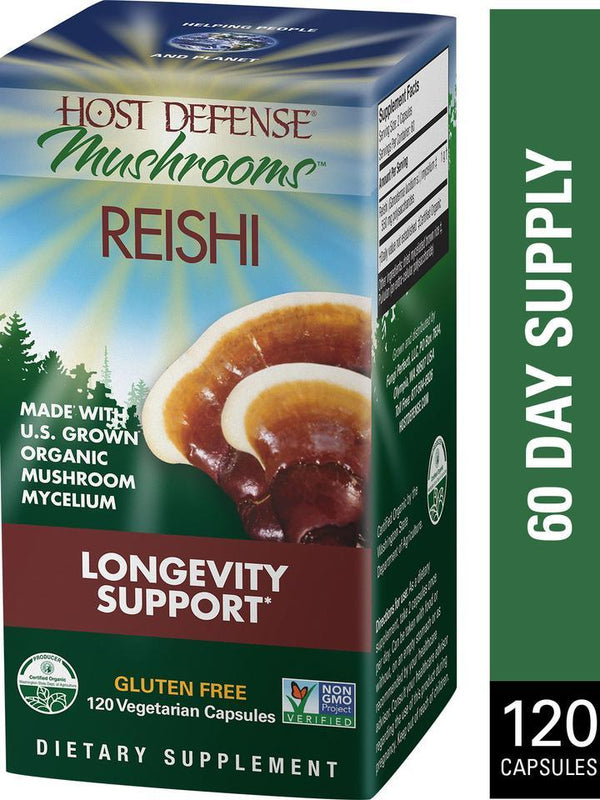 Host Defense Mushrooms Reishi  120 Vegetarian Capsules