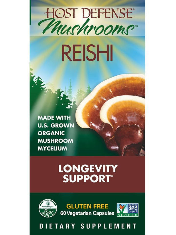 Host Defense Mushrooms Reishi  60 Vegetarian Capsules