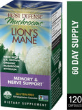 Host Defense Mushrooms Lion's Mane  120 Vegetarian Capsules
