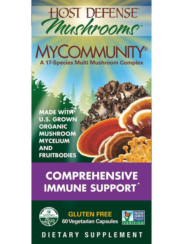 Host Defense Mushrooms MyCommunity 60 Vegetarian Capsules