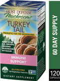 Host Defense Mushrooms Turkey Tail  120 Vegetarian Capsules