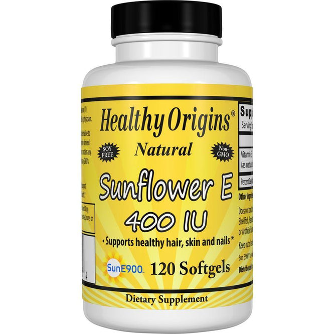 Healthy Origins Natural Sunflower E, 400 IU 120 Softgels