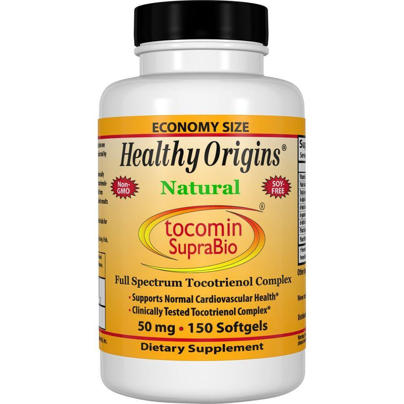 Healthy Origins Natural Tocomin SupraBio, 50mg 150 Gels