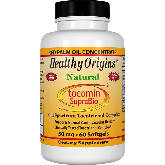 Healthy Origins Natural Tocomin SupraBio, 50mg 60 Gels