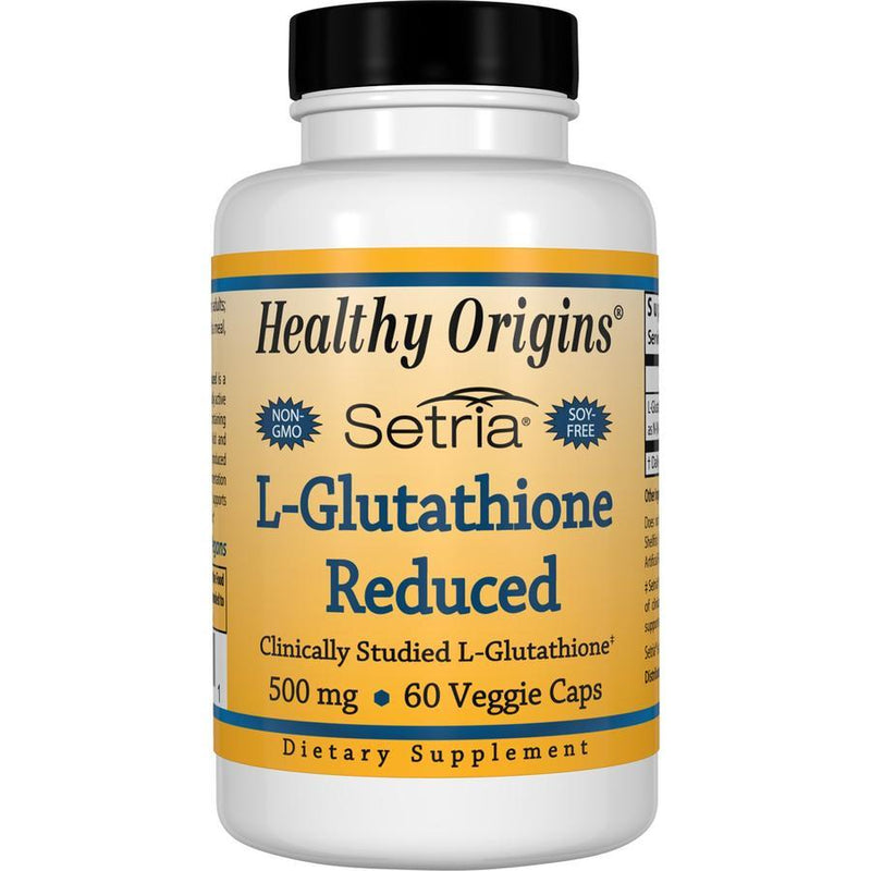 Healthy Origins L-Glutathione (Setria) Reduced, 500mg 60 Capsules