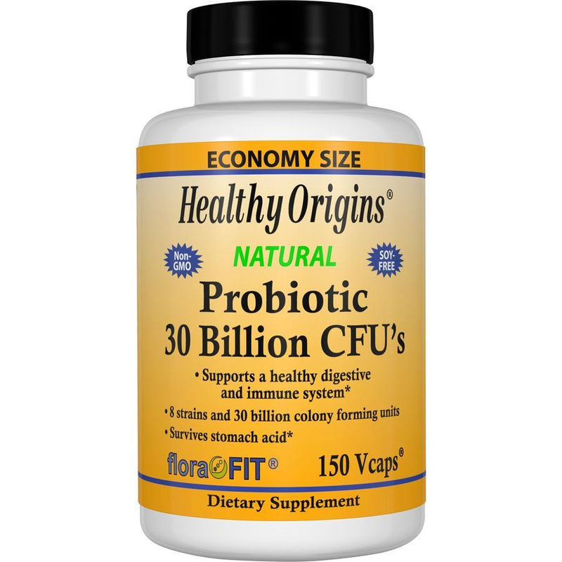 Healthy Origins Natural Probiotic 30 Billion CFU's 150 Vegetable Capsules