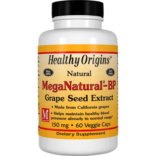 Healthy Origins MegaNatural-BP - Grape Seed Extract 150 mg, 60 Veg Capsules