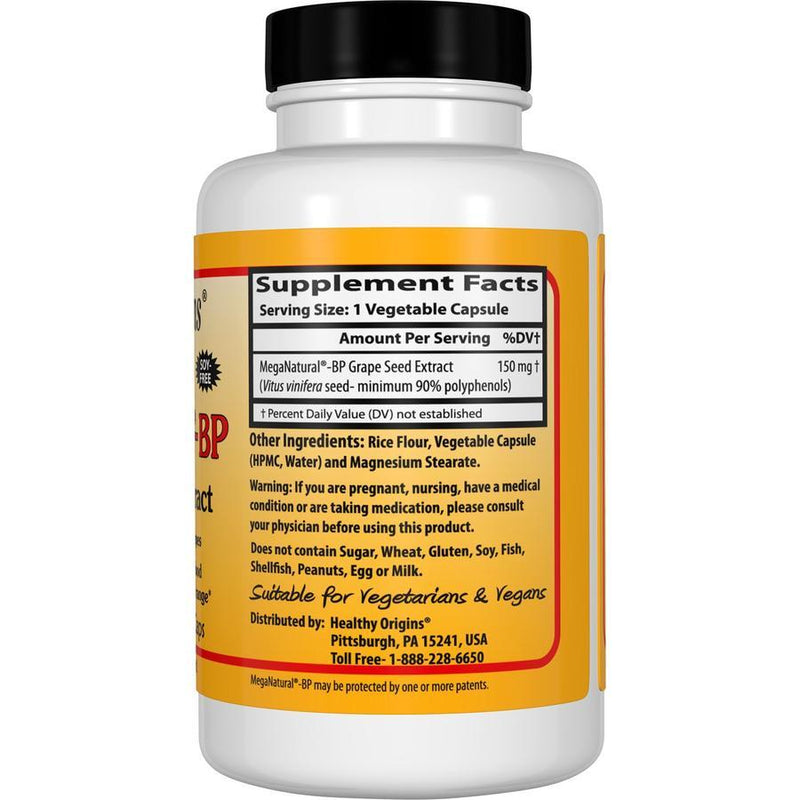 Healthy Origins MegaNatural-BP – Grape Seed Extract 150 mg