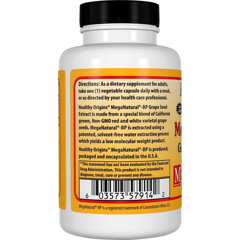 Healthy Origins MegaNatural-BP – Grape Seed Extract 300 mg