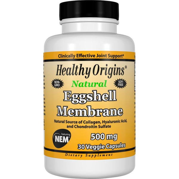 Healthy Origins Natural Eggshell Membrane, 500mg 30 Veg Capsules