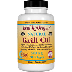 Healthy Origins Natural Krill Oil, 500mg 60 Softgels