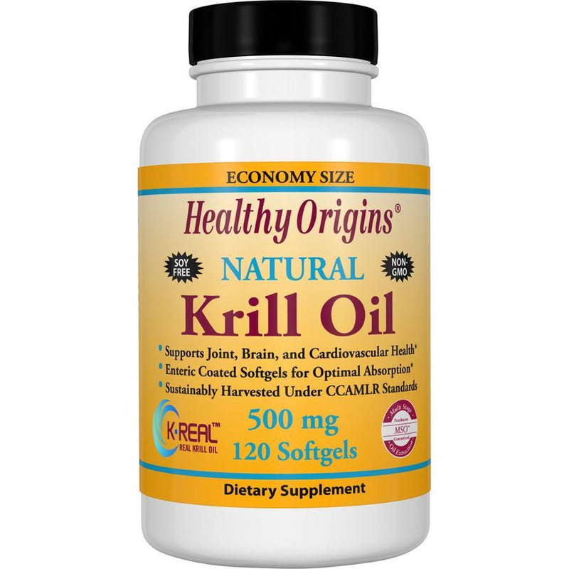 Healthy Origins Natural Krill Oil, 500mg 120 Softgels