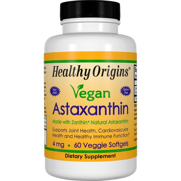 Healthy Origins Vegan Astaxanthin, 4mg 60 Veg Softgels